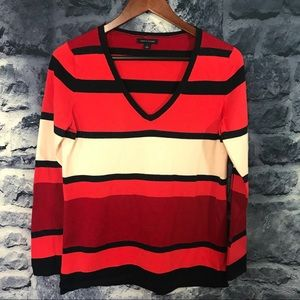 Tommy Hilfiger Multicolored V Neck Sweater